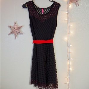 Black Dress with Red Details